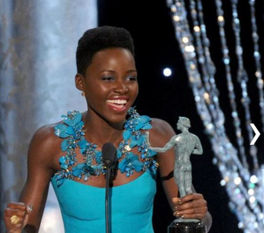 Lupita wins at the SAG awards! Again!!!!
