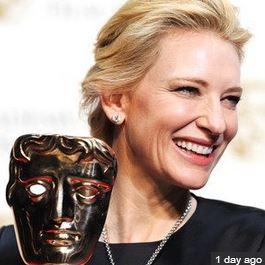 Cate Blanchett Class Act  Aces at BAFTAS, She thanks the late Phillip Seymour Hoffman in her speech.