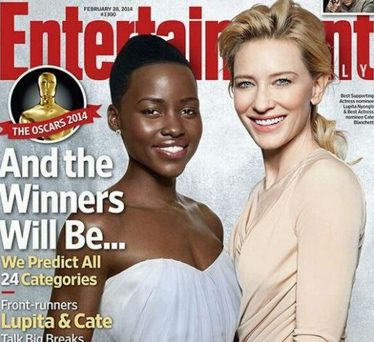 Lupita & Cate on cover of EW! And the Winners Will Be...AND I AGREE!