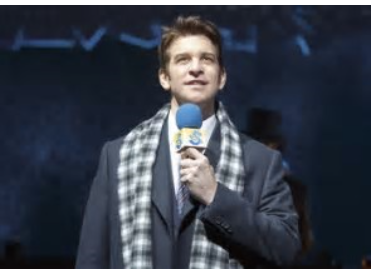 Andy Karl on mike