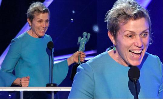 Fran at the Sag Awards